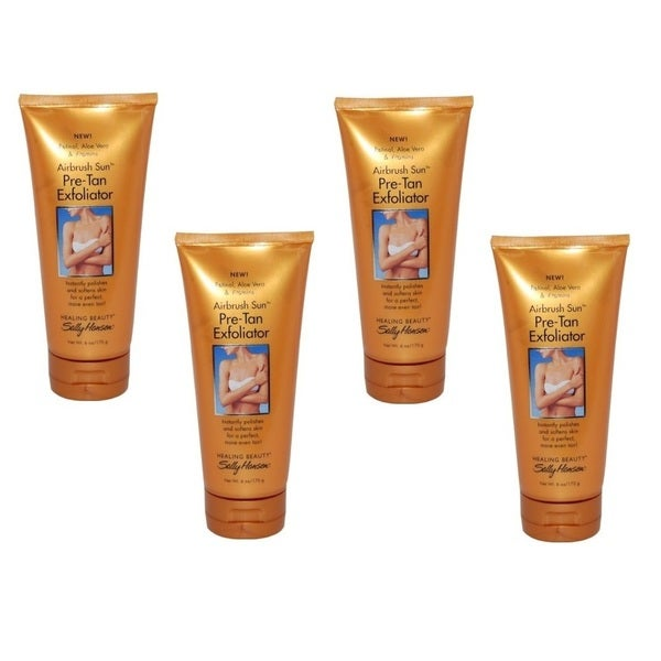 Sally Hansen Airbrush Sun Pre-Tan 6-ounce Exfoliator (Pack of 4)