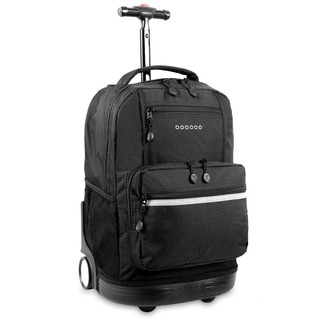 J World New York Sunset 18-inch Rolling Backpack