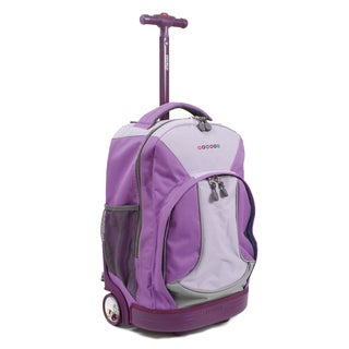 J World New York Sunday 18-inch Rolling Backpack