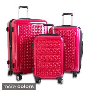 J World New York Joint 3-piece Polycarbonate Hardside Spinner Luggage Set