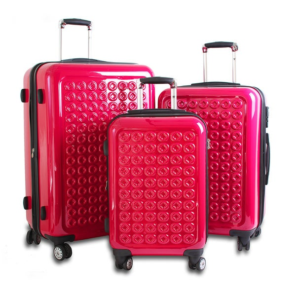 J World New York Joint 3-piece Polycarbonate Hardside Spinner Luggage Set
