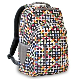 J World New York Carmen Checkers 15-inch Laptop Backpack