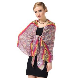 Lemonpaier Women's Purple National Style Oversized Modal Cashmere Scarf
