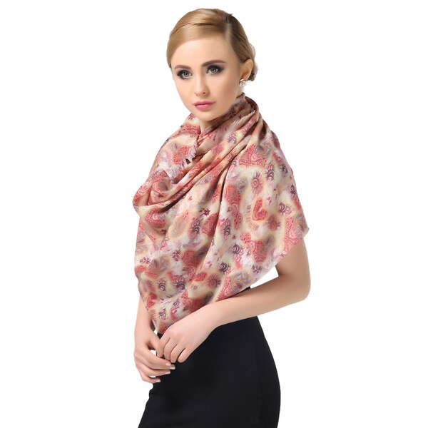 Lemonpaier Women's New Style 100-percent Merino Wool Scarf Warm Print Scarf
