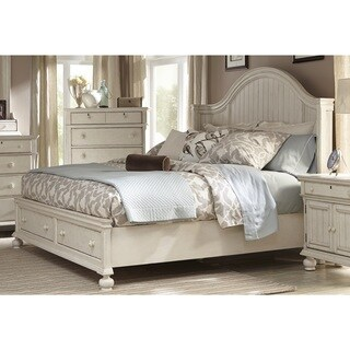 Greyson Living Laguna Antique White Storage Bed