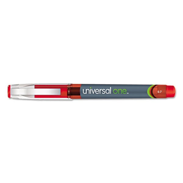 Universal One Red High Capacity Roller Ball Stick Gel Pens (Pack of 3)
