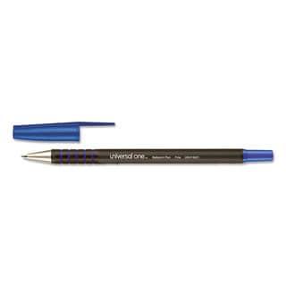 Universal One Comfort Grip Blue Ink Ballpoint Stick Pen (3 Packs of 12)