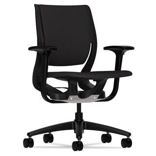 HON Purpose Black/Black Upholstered Flexing Task Chair