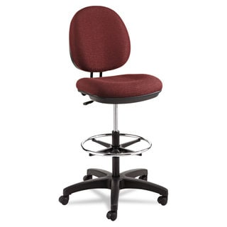 Alera Burgundy Interval Series Swivel Task Stool