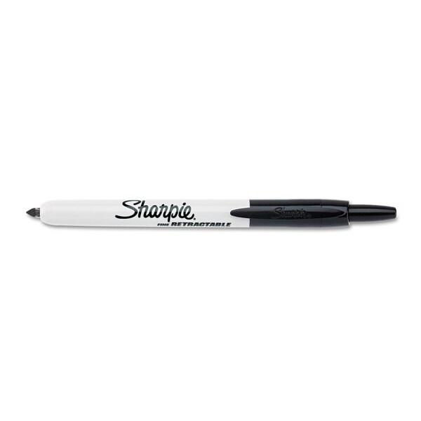 Sharpie Retractable Black Permanent Marker (Pack of 10)