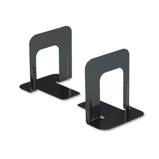 Universal Economy Nonskid Black Bookends (7 Pairs)