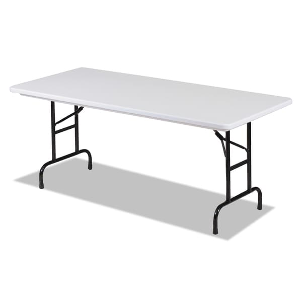 Alera Blow Molded Resin Top Folding Gray Granite Tables
