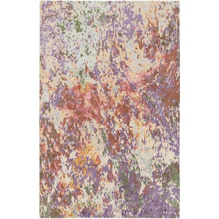 Hand-Knotted Helston Abstract Viscose Rug (4' x 6')