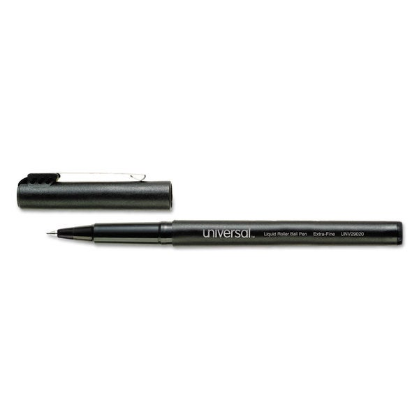 Universal Black Roller Ball Stick Pens (Pack of 3)