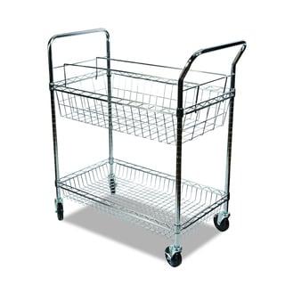 Alera Chrome Carry-all Cart/Mail Cart