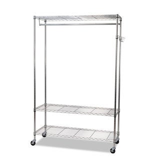 Alera Wire Shelving Silver Garment Rack