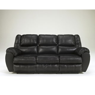 Signature Design by Ashley McAdams Black Reclining Sofa