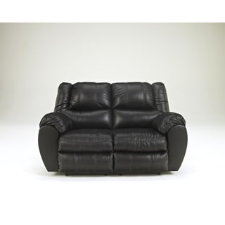 SB Signature Design by Ashley McAdams Black Reclining Loveseat