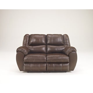 Signature Design by Ashley McAdams Brown Reclining Loveseat