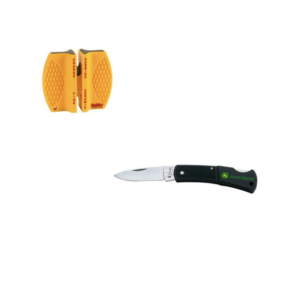 Case Cutlery John Deere Lockback Knife with Sharpener