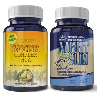 Totally Products Garcinia Cambogia HCA Extreme (90 Count) & Night Slim-Night Time Weight Loss (30 Count)