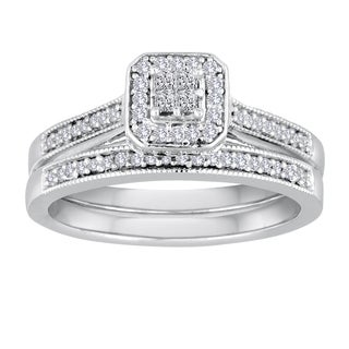 Platinaire 2/5ct TDW Diamond Bridal Ring Set (I-J, I2-I3)