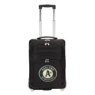 Denco Sports Luggage MLB Oakland A'S 21-inch Carry On Upright Suitcase
