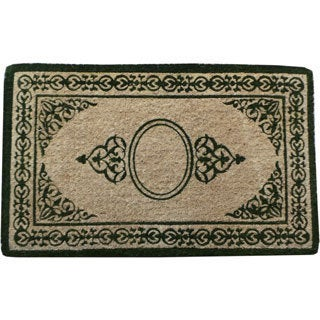 "Decorative Border Green Filigree Extra Thick Doormat (22"" x 36"")"