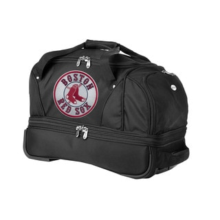 Denco Sports Luggage MLB Boston Red Sox 22-inch Carry On Drop Bottom Rolling Duffel