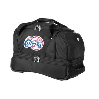 Denco Sports Luggage NBA Los Angeles Clippers 22-inch Carry On Drop Bottom Rolling Duffel