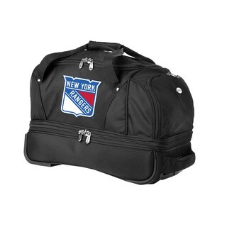Denco Sports Luggage MLB Texas Rangers 22-inch Carry On Drop Bottom Rolling Duffel