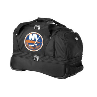 Denco Sports Luggage NHL New York Islanders 22-inch Carry On Drop Bottom Rolling Duffel