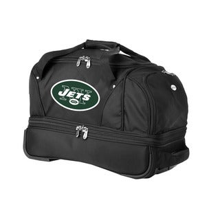 Denco Sports Luggage NFL New York Jets 22-inch Carry On Drop Bottom Rolling Duffel