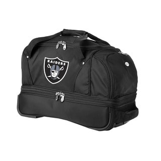 Denco Sports Luggage NFL Oakland Raiders 22-inch Carry On Drop Bottom Rolling Duffel