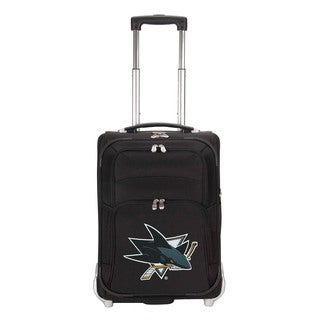 Denco Sports Luggage NHL San Jose Sharks 21-inch Carry On Upright Suitcase