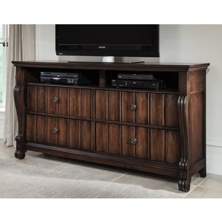 Greyson Living Rhodes Walnut Finish Traditional Entertainment Chest