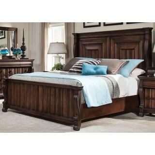 Greyson Living Rhodes Walnut Finish Traditional Panel Bed