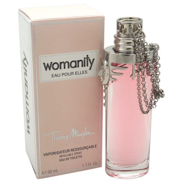 Thierry Mugler Womanity Eau Pour Elles Women's 1.7-ounce Eau de Toilette (Refillable Spray)
