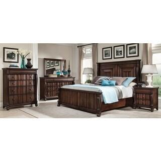 Greyson Living Rhodes Walnut Finish Traditional 5-piece Bedroom Set