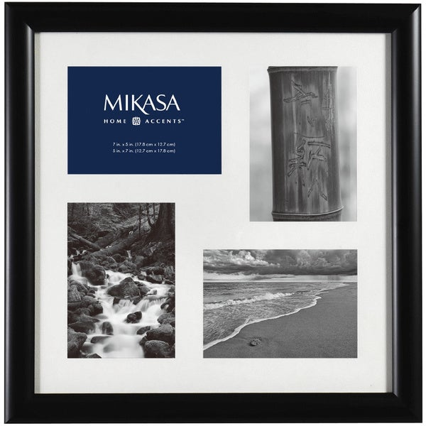 Mikasa 4 Opening Black Shadow Box Collage
