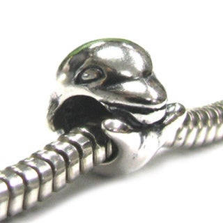 Queenberry Sterling Silver Dolphin European Bead Charm