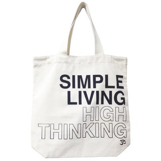 'Simple Living High Thinking' Mantra Eco-cotton Canvas Tote
