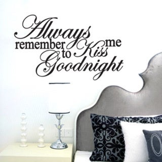 Kiss Me Goodnight Wall Decal (35-inch x 21-inch)
