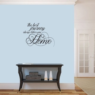The Best Journey Wall Decal (24-inch x 18-inch)