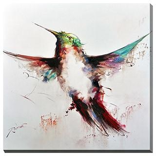 Porthos Home Rainbow Hummingbird Canvas Print Wall Art