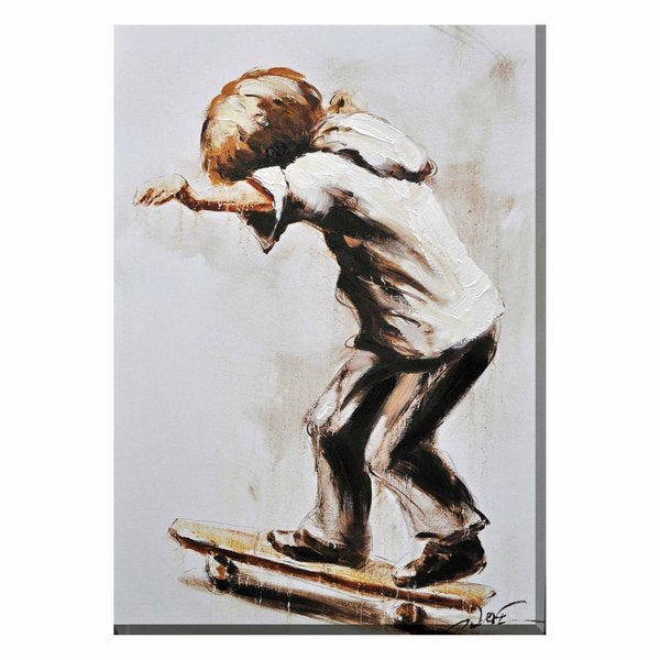 Skater Boy Canvas Print Wall Art