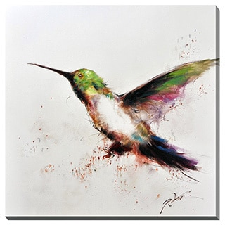 Hummingbird Flight Canvas Print Wall Art