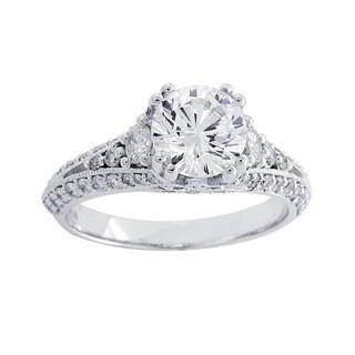 14k White Gold 3/4ct TDW Round-cut Diamond Engagement (H-I, SI1-SI2)