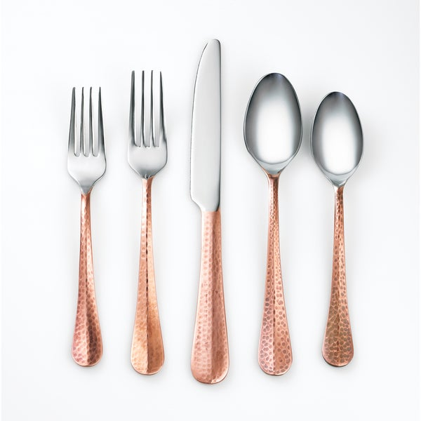 Cambridge Silversmiths Indira Jessamine Copper 20-piece Flatware Set