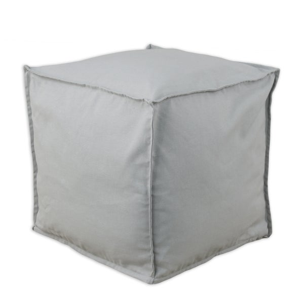 Somette Solid Storm Grey Square Ottoman